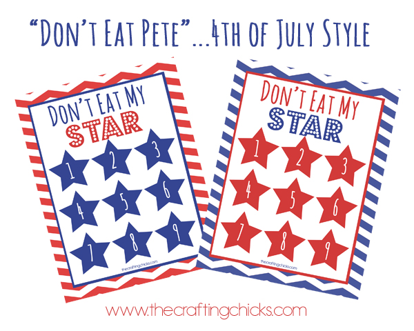 Don't Eat Pete 4th of July Style Printable Kids Game