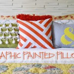 Graphic Painted Pillow