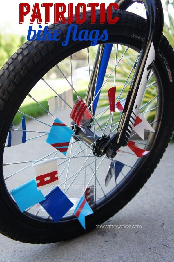 patriotic bike flags
