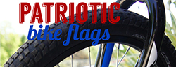 patriotic bike flags
