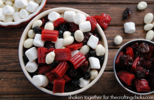 Quick and easy, red, white and blue Summer snack mix!