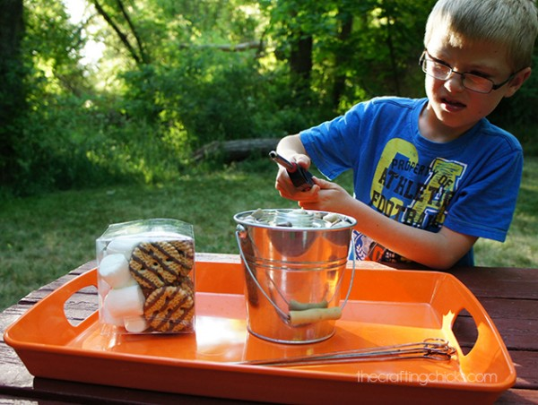 Table Top S'mores-a fun way to roast marshmallows without going camping!