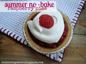 Summer no-bake mini raspberry pies