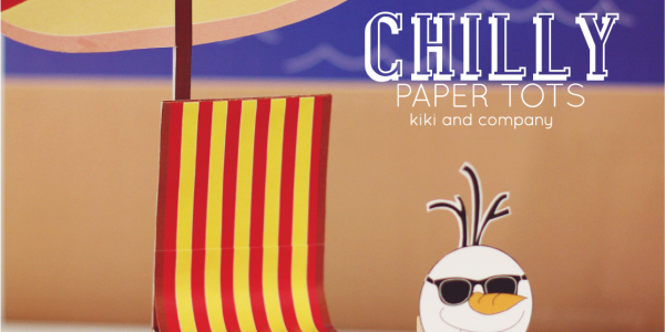 Frozen inspired Chilly Paper Tots-Summertime Set {free printable}