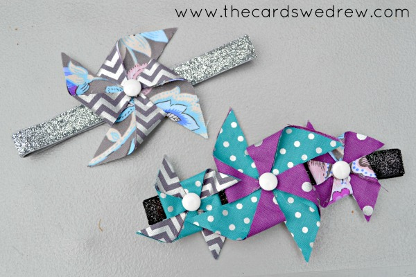 DIY Pinwheel Baby Headbands from The Cards We Drew via The Crafting Chicks
