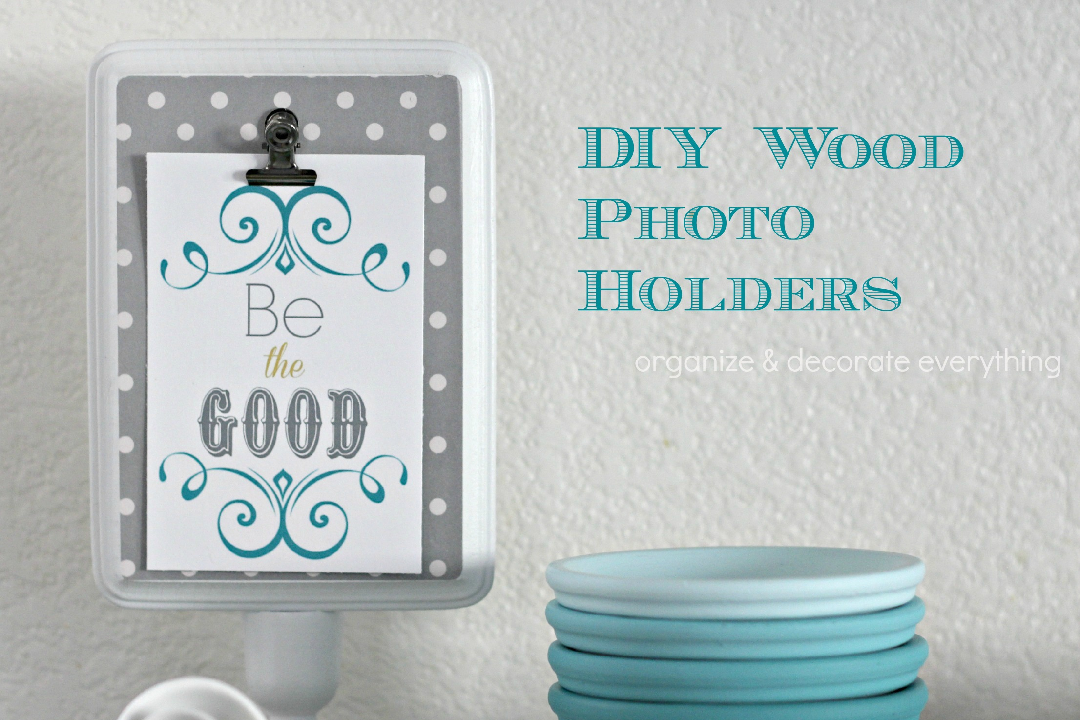 DIY Wood Photo Holder