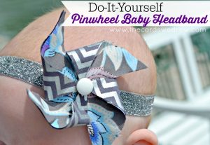 Do It Yourself Pinwheel Baby Headband