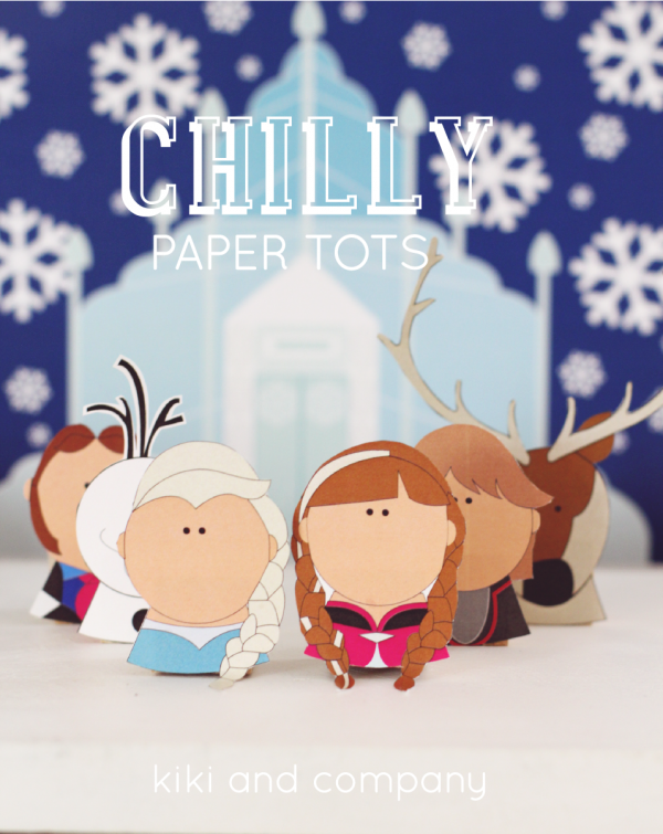 Frozen inspired Chilly Paper Tot play set at kiki and company