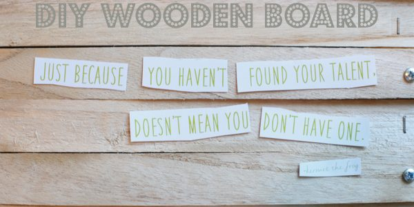 DIY Wooden Quote Board