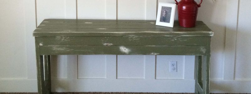 Rustic Olive 2×4 Sofa Table