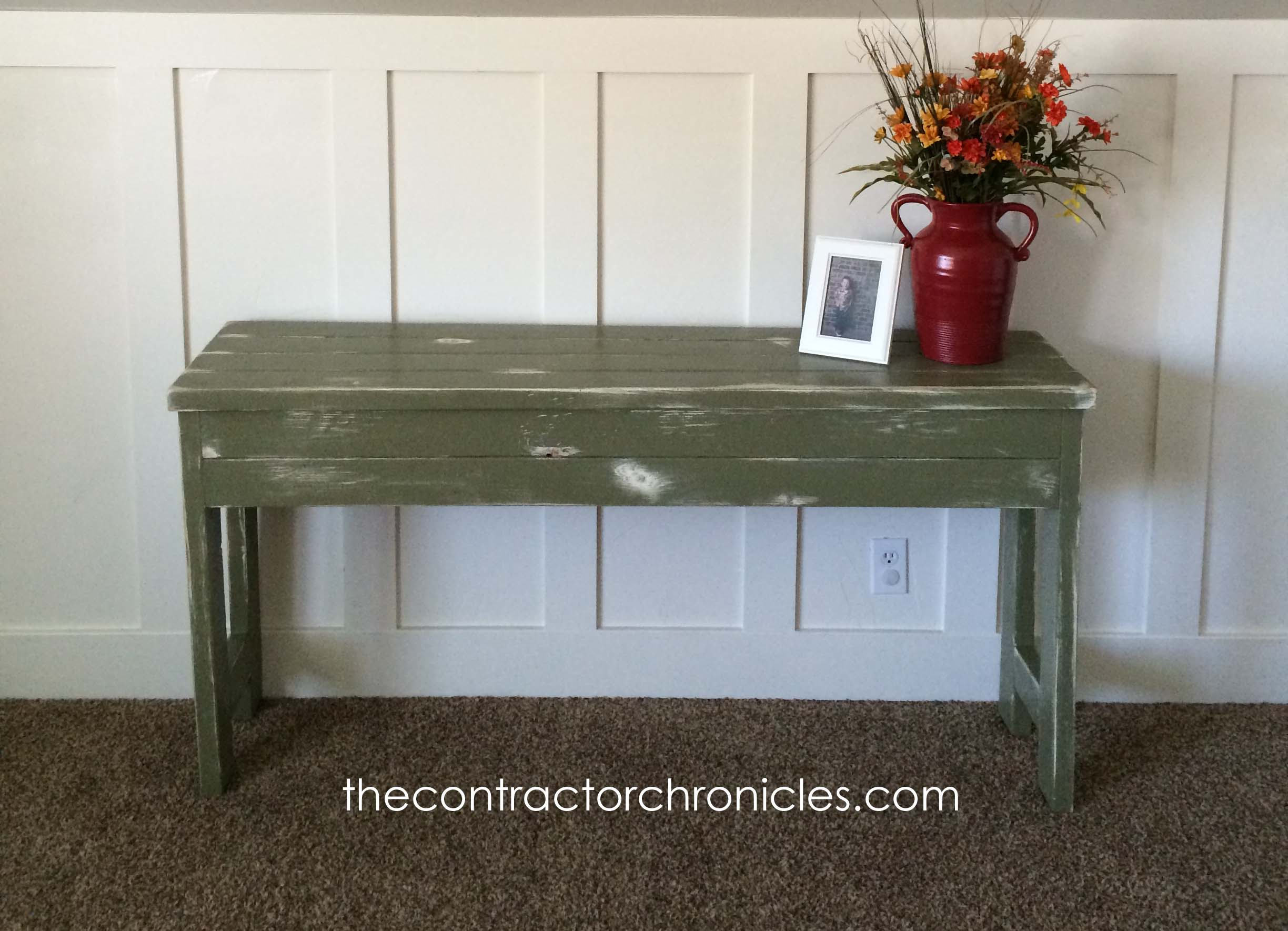 Fine Rustic Olive 2X4 Sofa Table The Crafting Chicks Ncnpc Chair Design For Home Ncnpcorg