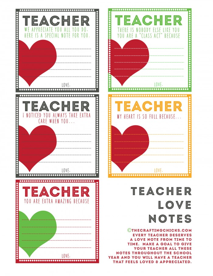 Teacher Love Noteslow