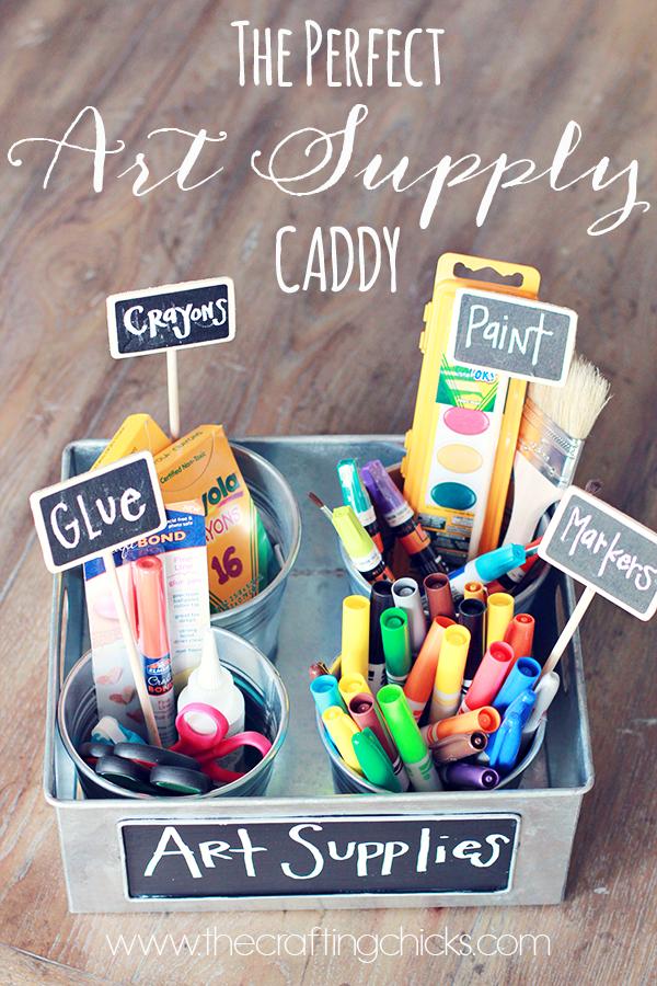 DIY Art Supply Caddy | Home Organization | Kids | Craft Room