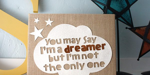 I'm A Dreamer Mixed Media Canvas