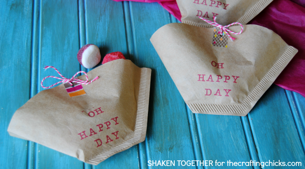 Quick and easy party favors - made from coffee filters!