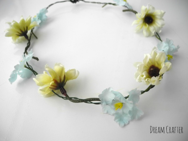 wire floral crown