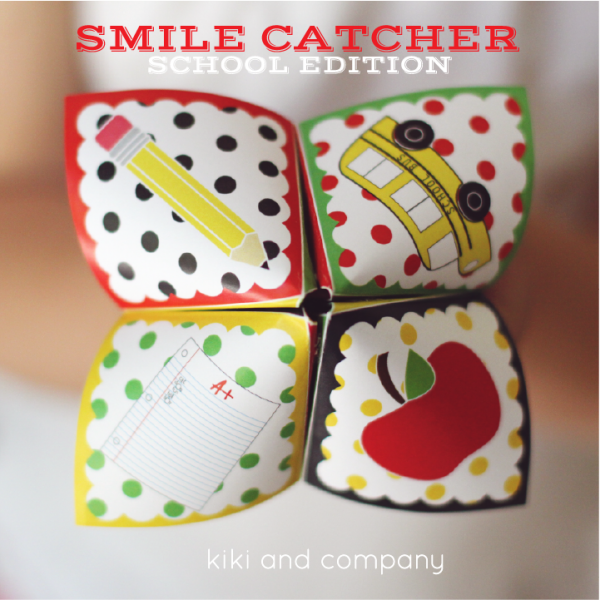 Free Smile Catcher School edition at kiki and company. LOVE this to throw in my kids lunch!