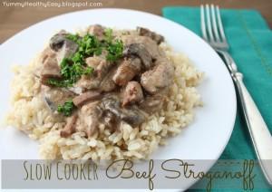 Slow+Cooker+Beef+Stroganoff