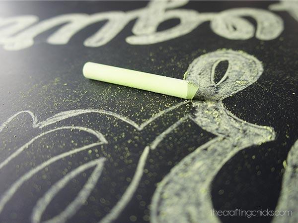 fro-yo chalkboard