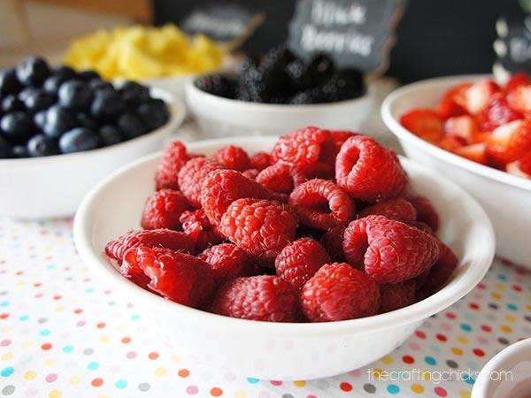 fro-yo raspberries