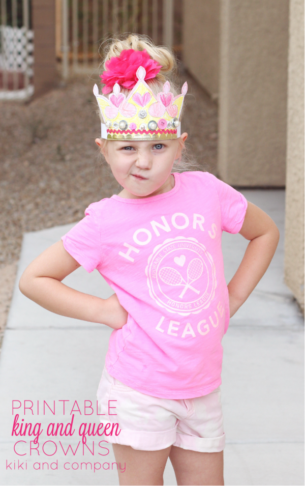 Printable King and Queen Crowns - I love this cute little printable crown! love that they can make it their own.