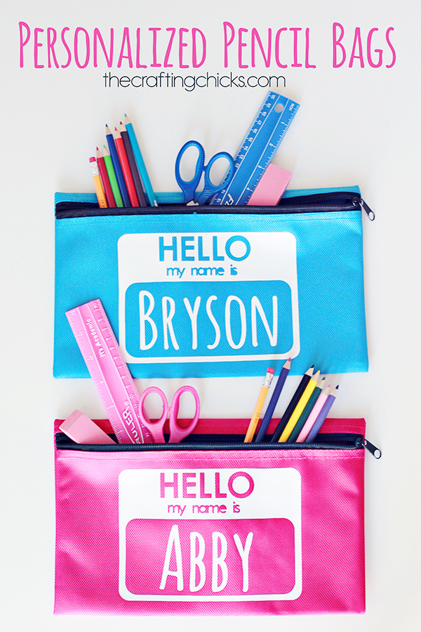 Personalized Pencil Bags for Back to School