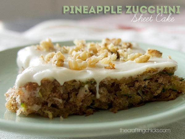 Zucchini Brownies and more delicious zucchini recipes like this Pineapple Zucchini Sheet Cake