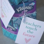 Kleenex Teacher Gift Idea with Printable Tag