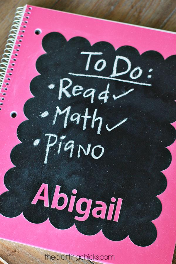 Chalkboard Notebooks For Back To School