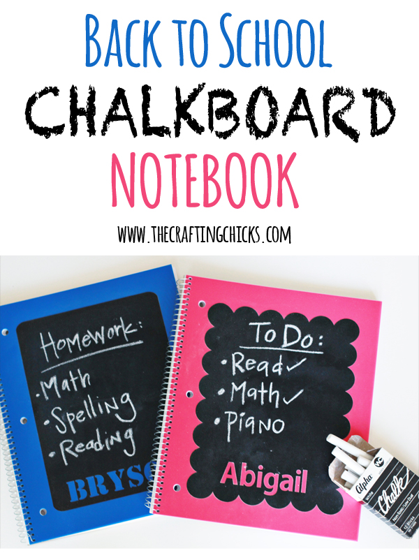 Chalkboard Notebooks for Back to School