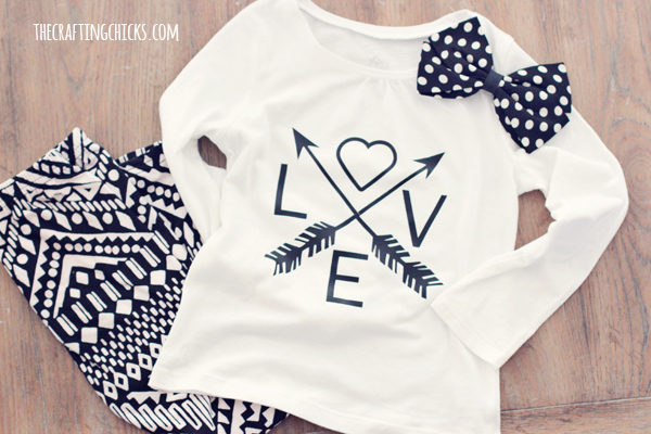 Diy Love Amp Arrows Graphic Tee Cricut Explore The