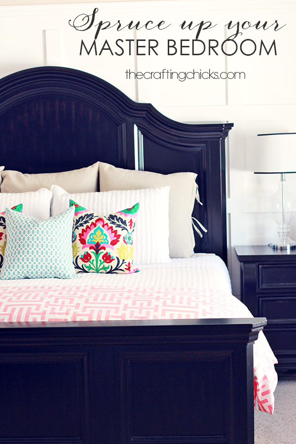 spruce up your master bedroom the crafting chicks