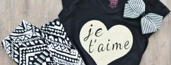 DIY Je T'aime Graphic Tee *Cricut Explore