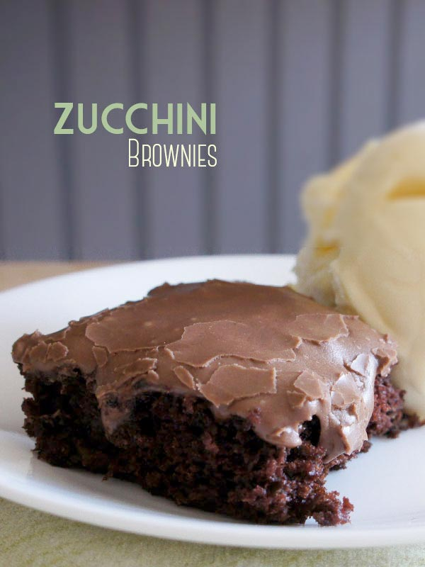 Zucchini Brownies are the best way to eat zucchini!