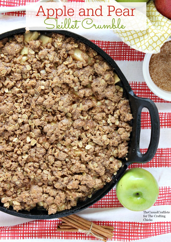 Apple and Pear Skillet Crumble