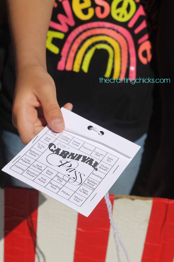 Carnival tickets for each child