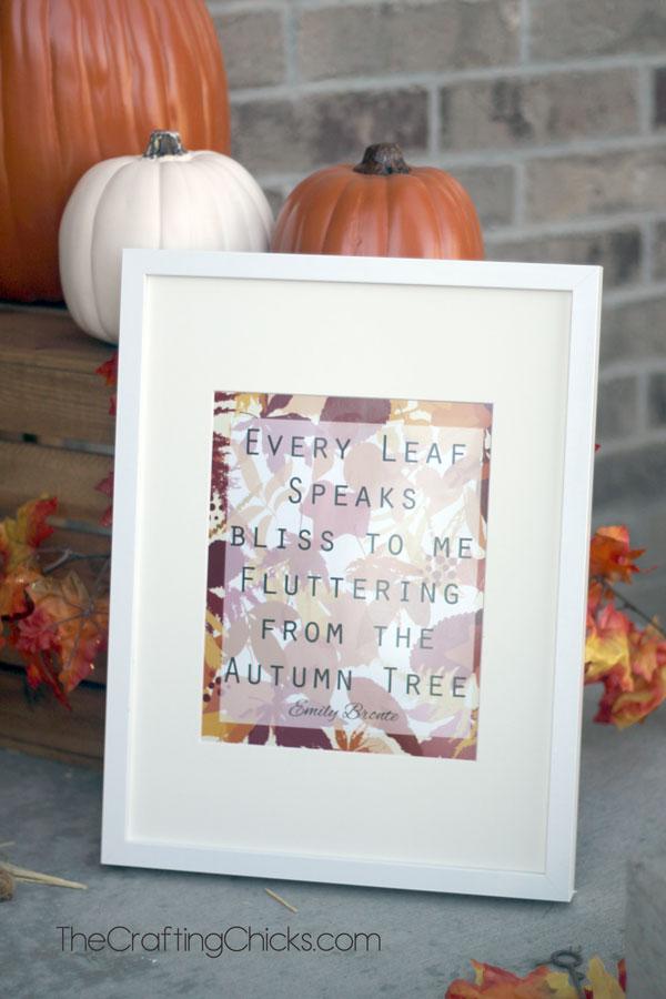 Every Leaf Fall Printable