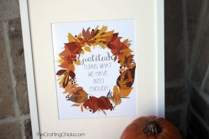 Gratitude Printable in Fall colors