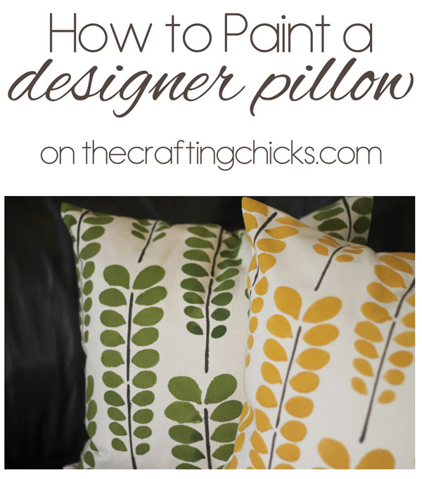 How to paint a designer pillow