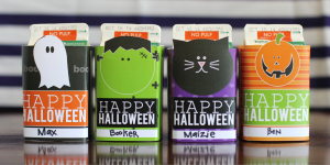 Printable Halloween Juice Box covers at the crafting chicks