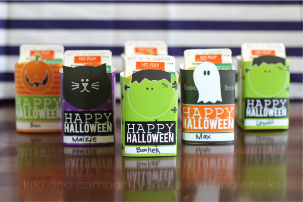 Printable Halloween Juice Box covers at the crafting chicks. Cute!