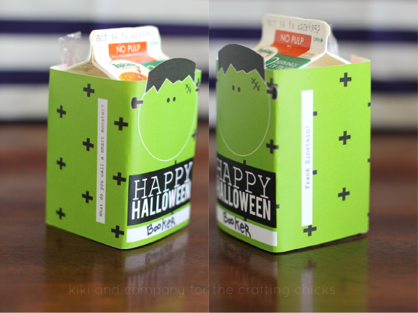 Printable Halloween Juice Box covers at the crafting chicks. My kids will love these!