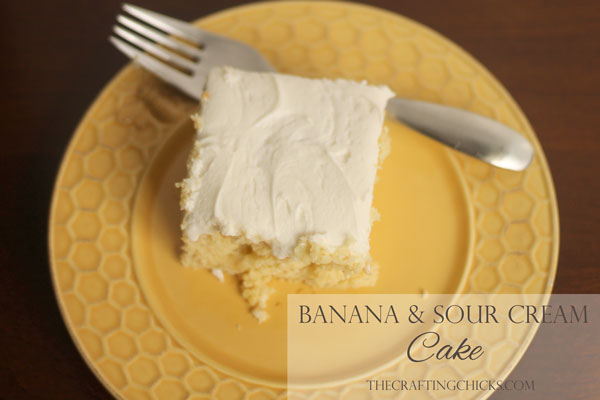 Banana Sour Cream Cake