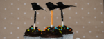 Black Crow Halloween Cupcake Toppers
