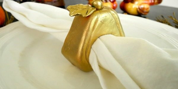 DIY Clay Pumpkin Napkin Rings