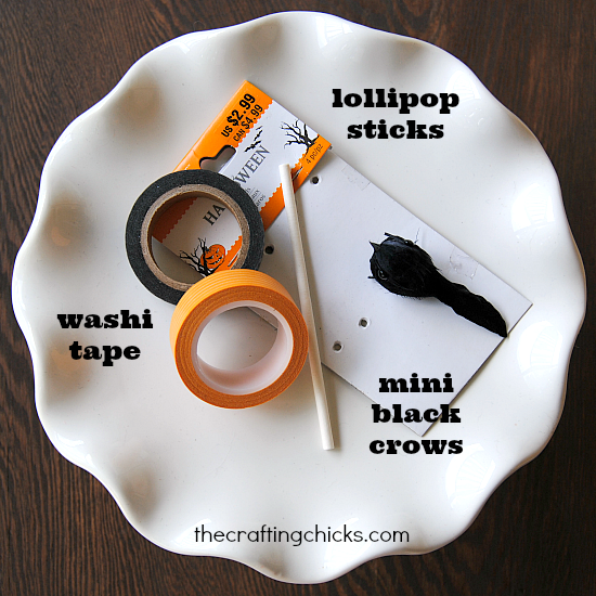 How to make black crow cupcake toppers!