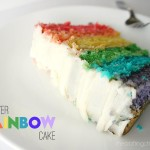 Rainbow Layer Cake with Cream Cheese Frosting