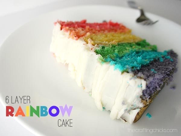 6 Layer Rainbow Cake