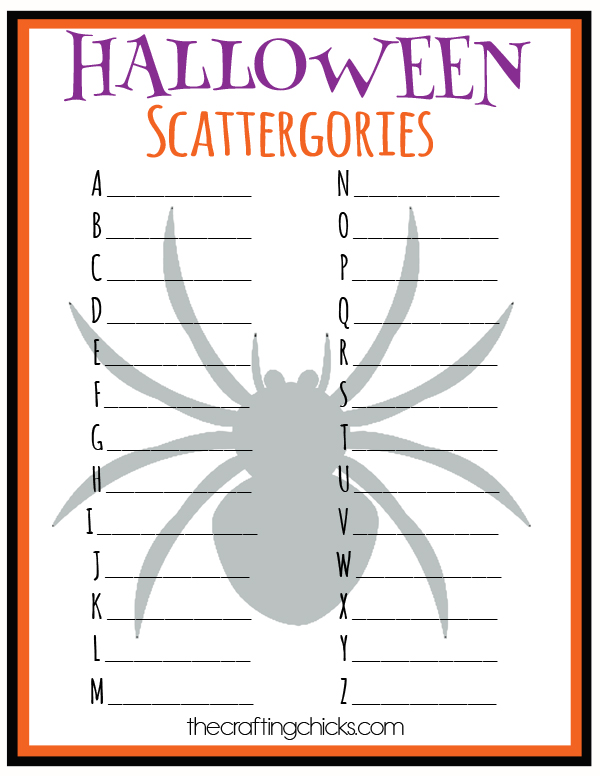 sm halloween scattergories