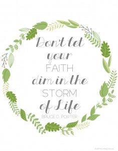 Don't Let your faith dim in the storm of life